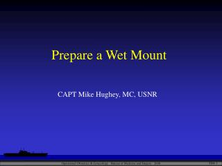Prepare a Wet Mount
