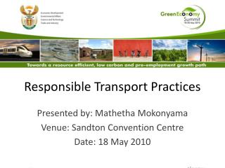 Responsible Transport Practices
