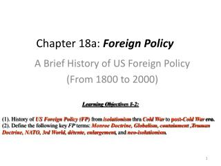 Chapter 18a:  Foreign Policy