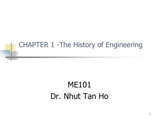 CHAPTER 1 -The History of Engineering