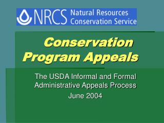 Conservation Program Appeals