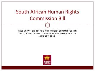 South African Human Rights Commission Bill