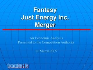 Fantasy  Just Energy Inc. Merger