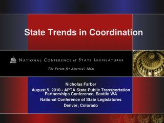 State Trends in Coordination