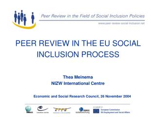 PEER REVIEW IN THE EU SOCIAL INCLUSION PROCESS
