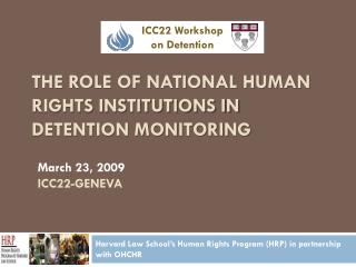 The Role of National Human Rights Institutions in Detention Monitoring