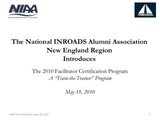 The National INROADS Alumni Association New England Region Introduces