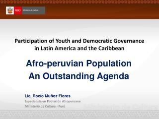 Participation of Youth and Democratic Governance in Latin America and the Caribbean
