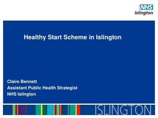 Healthy Start Scheme in Islington