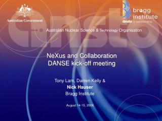 NeXus and Collaboration DANSE kick-off meeting