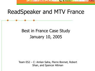 ReadSpeaker and MTV France