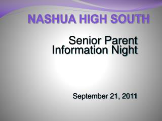 NASHUA HIGH SOUTH