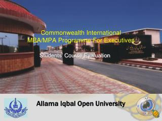 Commonwealth International  MBA/MPA Programme For Executives