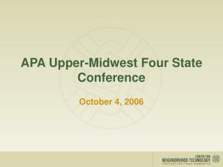 APA Upper-Midwest Four State Conference