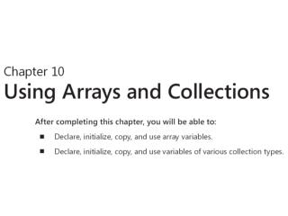 Arrays  and collections  –  nizovi  i kolekcije