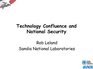 Technology Confluence and National Security