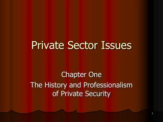 Private Sector Issues