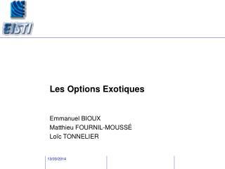 Les Options Exotiques
