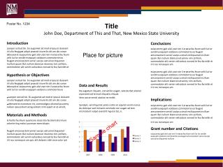 Title  John Doe, Department of This and That, New Mexico State University