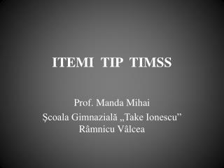 ITEMI  TIP  TIMSS