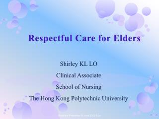 Respectful Care for Elders