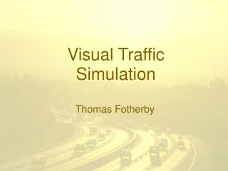 Visual Traffic Simulation