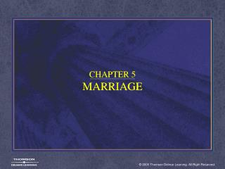 CHAPTER 5 MARRIAGE