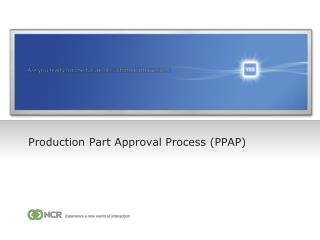 Production Part Approval Process PPAP