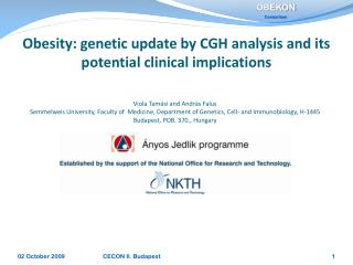 Obesity: genetic update by CGH analysis and its potential clinical implications