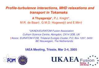 Profile-turbulence interactions, MHD relaxations and transport in Tokamaks
