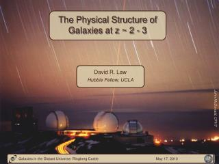 The Physical Structure of Galaxies at z ~ 2 - 3