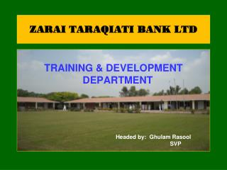 ZARAI TARAQIATI BANK LTD