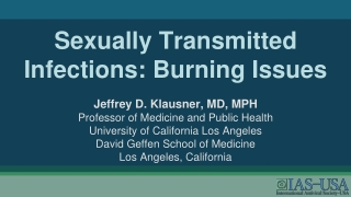 Sexually Transmitted Infections: Burning Issues