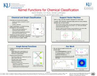 Chemicals are structured as graphs. Vertices and edges correspond to atoms and bonds.