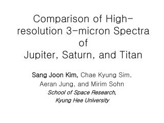 Comparison of High-resolution 3-micron Spectra of  Jupiter, Saturn, and Titan