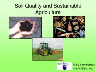 Soil Quality and Sustainable Agriculture