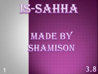 IS-SAHHA