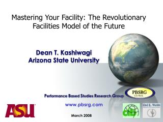 Mastering Your Facility: The Revolutionary Facilities Model of the Future
