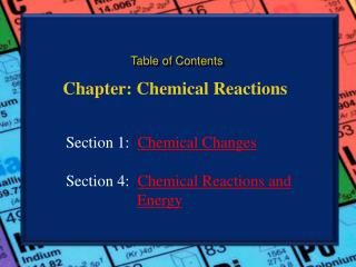Chapter: Chemical Reactions