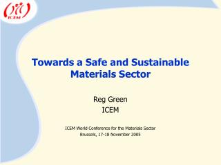 Towards a Safe and Sustainable Materials Sector
