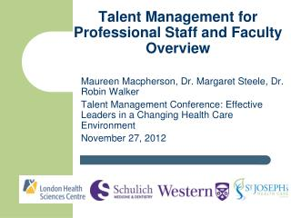 Talent Management for Professional Staff and Faculty Overview