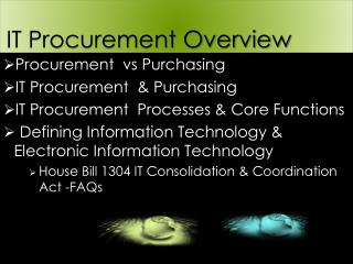 IT Procurement Overview