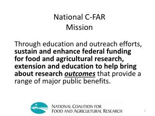 National C-FAR Mission