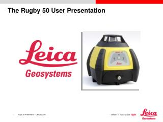 The Rugby 50 User Presentation