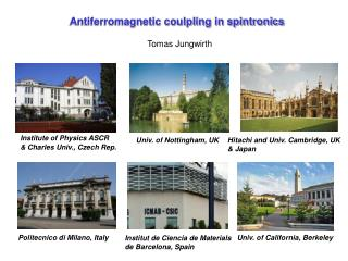 Antiferromagnetic coulpling in spintronics