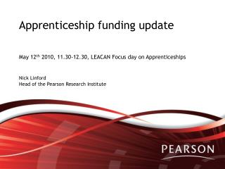 Apprenticeship funding update