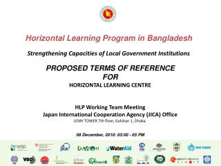 PROPOSED TERMS OF REFERENCE FOR HORIZONTAL LEARNING CENTRE HLP Working Team Meeting