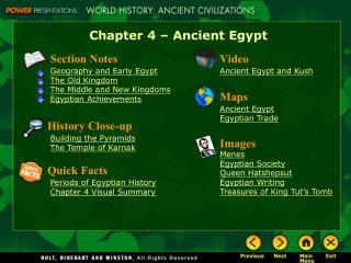 Chapter 4 – Ancient Egypt