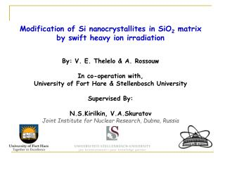 Modification of Si nanocrystallites in SiO 2  matrix by swift heavy ion irradiation