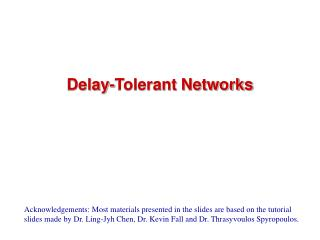 Delay-Tolerant Networks